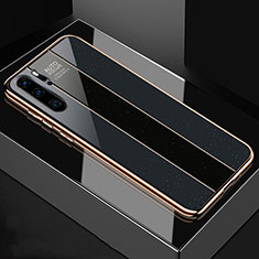 Silicone Frame Mirror Case Cover T03 for Huawei P30 Pro Black