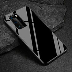 Silicone Frame Mirror Case Cover T03 for Huawei P40 Pro Black