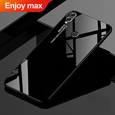 Silicone Frame Mirror Rainbow Gradient Case Cover for Huawei Enjoy Max Black