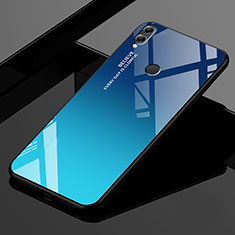 Silicone Frame Mirror Rainbow Gradient Case Cover for Huawei Enjoy Max Blue