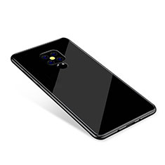 Silicone Frame Mirror Rainbow Gradient Case Cover for Huawei Mate 20 Black