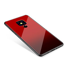 Silicone Frame Mirror Rainbow Gradient Case Cover for Huawei Mate 20 Red
