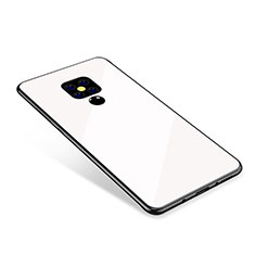 Silicone Frame Mirror Rainbow Gradient Case Cover for Huawei Mate 20 White