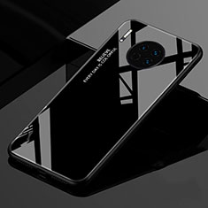 Silicone Frame Mirror Rainbow Gradient Case Cover for Huawei Mate 30 Pro 5G Black