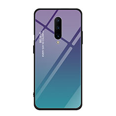 Silicone Frame Mirror Rainbow Gradient Case Cover for OnePlus 7 Pro Mixed