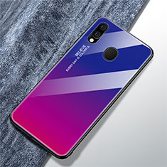 Silicone Frame Mirror Rainbow Gradient Case Cover for Samsung Galaxy A40 Mixed