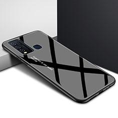 Silicone Frame Mirror Rainbow Gradient Case Cover for Vivo Y50 Black