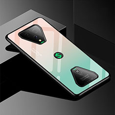 Silicone Frame Mirror Rainbow Gradient Case Cover for Xiaomi Black Shark 3 Pro Green