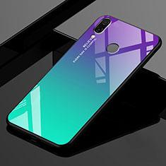 Silicone Frame Mirror Rainbow Gradient Case Cover for Xiaomi Redmi 7 Green