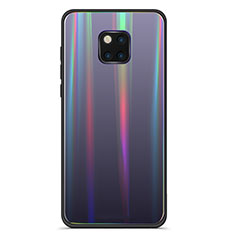 Silicone Frame Mirror Rainbow Gradient Case Cover M02 for Huawei Mate 20 Pro Black