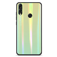 Silicone Frame Mirror Rainbow Gradient Case Cover R01 for Huawei Honor 8X Green