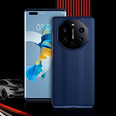 Silicone Matte Finish and Plastic Back Cover Case 360 Degrees R01 for Huawei Mate 40 Pro Blue