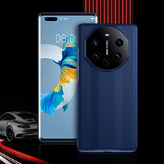 Silicone Matte Finish and Plastic Back Cover Case 360 Degrees R01 for Huawei Mate 40 Pro+ Plus Blue