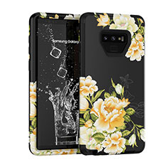 Silicone Matte Finish and Plastic Back Cover Case 360 Degrees U01 for Samsung Galaxy Note 9 Black