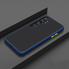 Silicone Matte Finish and Plastic Back Cover Case D01 for Xiaomi Mi Note 10 Pro Blue
