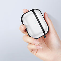 Silicone Matte Finish and Plastic Back Cover Case for Apple AirPods Pro Black