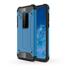 Silicone Matte Finish and Plastic Back Cover Case for Motorola Moto One Zoom Sky Blue