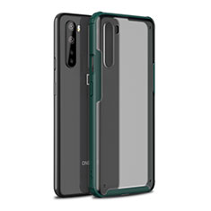 Silicone Matte Finish and Plastic Back Cover Case for OnePlus Nord Midnight Green