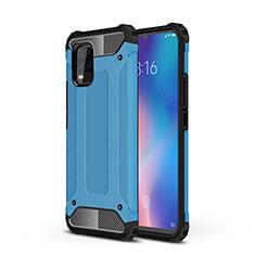 Silicone Matte Finish and Plastic Back Cover Case for Xiaomi Mi 10 Lite Sky Blue