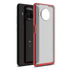 Silicone Matte Finish and Plastic Back Cover Case for Xiaomi Mi 10T Lite 5G Red
