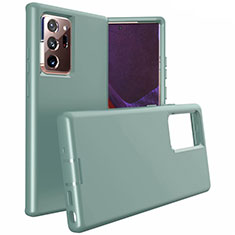 Silicone Matte Finish and Plastic Back Cover Case N02 for Samsung Galaxy Note 20 Ultra 5G Midnight Green