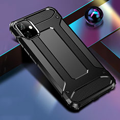 Silicone Matte Finish and Plastic Back Cover Case R01 for Apple iPhone 11 Black