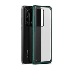 Silicone Matte Finish and Plastic Back Cover Case R01 for Huawei P40 Pro+ Plus Green