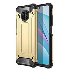 Silicone Matte Finish and Plastic Back Cover Case R01 for Xiaomi Mi 10T Lite 5G Gold