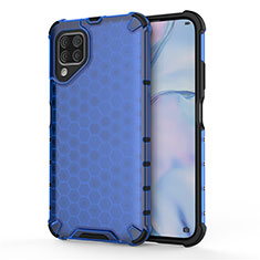 Silicone Matte Finish and Plastic Back Cover Case R02 for Huawei P40 Lite Blue