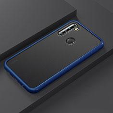 Silicone Matte Finish and Plastic Back Cover Case R03 for Xiaomi Redmi Note 8 Blue