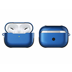 Silicone Matte Finish and Plastic Back Cover Case U01 for Apple AirPods Pro Blue