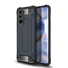 Silicone Matte Finish and Plastic Back Cover Case U01 for Huawei Honor 30 Pro Gray