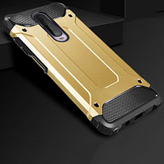 Silicone Matte Finish and Plastic Back Cover Case U01 for Xiaomi Redmi K30 5G Gold