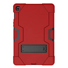 Silicone Matte Finish and Plastic Back Cover Case with Stand A03 for Samsung Galaxy Tab S5e 4G 10.5 SM-T725 Red