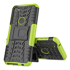 Silicone Matte Finish and Plastic Back Cover Case with Stand for Motorola Moto G Pro Green