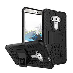 Silicone Stands TPU Soft Case for Asus Zenfone 3 ZE552KL Black
