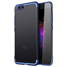 Silicone Transparent Frame Cover for Xiaomi Mi Note 3 Blue