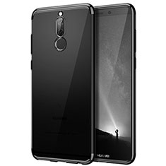 Silicone Transparent Matte Finish Frame Cover for Huawei G10 Black