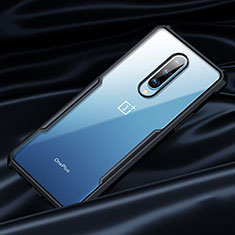 Silicone Transparent Mirror Frame Case 360 Degrees for OnePlus 8 Black