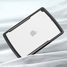 Silicone Transparent Mirror Frame Case Cover for Apple iPad 10.2 (2020) Black
