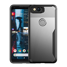 Silicone Transparent Mirror Frame Case Cover for Google Pixel 3 Black