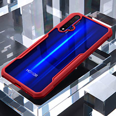 Silicone Transparent Mirror Frame Case Cover for Huawei Honor 20 Red