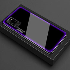 Silicone Transparent Mirror Frame Case Cover for Huawei Honor Play4 Pro 5G Purple