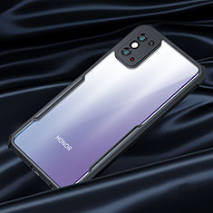 Silicone Transparent Mirror Frame Case Cover for Huawei Honor X10 Max 5G Black