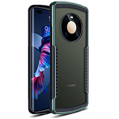 Silicone Transparent Mirror Frame Case Cover for Huawei Mate 40 Pro Green