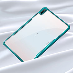 Silicone Transparent Mirror Frame Case Cover for Huawei MatePad 5G 10.4 Cyan