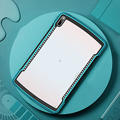 Silicone Transparent Mirror Frame Case Cover for Huawei MatePad Pro 5G 10.8 Cyan
