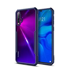 Silicone Transparent Mirror Frame Case Cover for Huawei Nova 5 Pro Blue