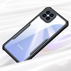 Silicone Transparent Mirror Frame Case Cover for Huawei Nova 8 SE 5G Black