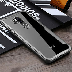 Silicone Transparent Mirror Frame Case Cover for LG G7 Gray